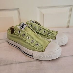 Converse No Lace Lime Gren Tennis Shoes Size 6
